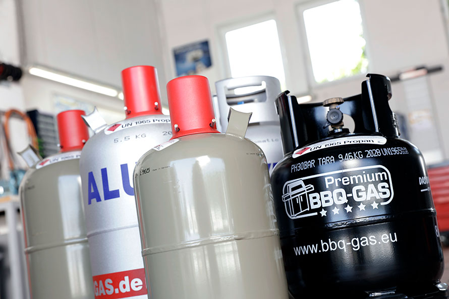 Füllservice und Verkauf von Propangas, Ballongas und Kohlensäure